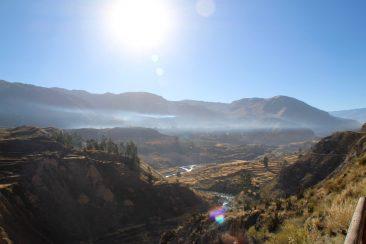 Le canyon et ses terrasses