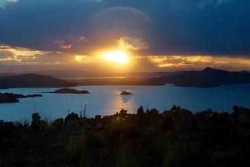 L'ile d'Amantani - Couché de soleil